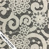Tessuto di nylon del merletto del cotone di disegno del fiore per gli accessori dell'indumento