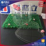 Vervaardiging van China paste de AcrylDoos van de Bloem in de Vorm van het Hart aan
