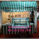 Niedrige Temperatur-Verkaufsmöbelpopsicle-Eiscreme-Bildschirmanzeige-Karre