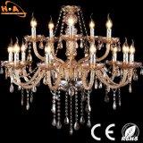 Luz extravagante clara do pendente do diodo emissor de luz do cristal europeu luxuoso