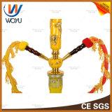 Belüftung-Rohr-chinesischer Tierkreis-Huka Shisha Vaporizer betätigte Holzkohle