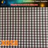 Großverkauf! 3mm Polyester-Check-Textilgewebe für Kleid-Futter (X058-60)
