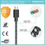 Samsung 전화를 위한 땋는 나일론 알루미늄 빨리 1m 데이터 충전기 USB 케이블