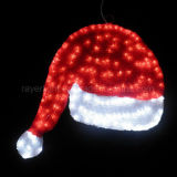 Luz comercial do chapéu do diodo emissor de luz Santa das decorações do Natal para a árvore