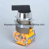 Dia22mm-La118axb de Schakelaar van de Drukknop van de Positie, Zwarte, Rode, Groene Kleuren, Voltage 6V-380V