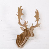 Hot Selling Moose Head Hanging Decoration Artesanato de madeira criativo simples