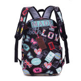Flower Printed Colorful Middle High School Bolsa de mochila estudantil universitária
