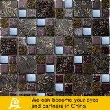 Metal da mistura do mosaico do cristal de papel de parede do projeto da folha de plátano