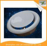Válvula de disco superior redonda da exaustão do metal do difusor do ar da ventilação