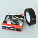 Film de PVC pour la bande électrique d'isolation de PVC pour le marché de l'Espagne (0.13mmx19mmx10m/20)
