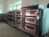 Four de gaz professionnel de boulangerie de pain de 9 plateaux de four luxueux de paquet