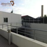 Madera compuesta barata gris oscura al aire libre del aluminio WPC que cerca para el paisaje