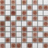 Квадратные плитки мозаики фарфора и плитка мозаики смолаы