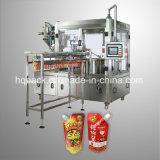 Chilie Soße-Pasten-Füllmaschine für Fastfood- Beutel mit seitlicher Tülle