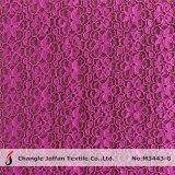 Ткань шнурка цветка Fushia для одежды (M3443-G)