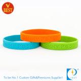 Оптовым изготовленный на заказ Eco-Friendly Wristband поделенный на сегменты силиконом