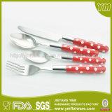 Y&M 24 Stück-Doppelt-Einspritzung-Plastikgriff-Besteck-Tischbesteck-Set