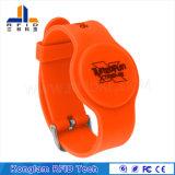 Bracelet sec personnalisé d'IDENTIFICATION RF de divers silicones de puces