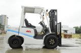Motor branco/amarelo do mastro aprovado Ce de Choiced de Nissan com o caminhão de Forklift lateral do Kat da SHIFT