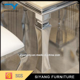 Tabela de jantar de mármore inoxidável do preto do frame de aço da mobília chinesa