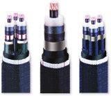 Медные изоляция PVC проводника и силовой кабель куртки