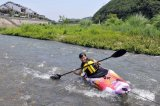 Plastique Blanc Kayak Eau avec douchette Jupe