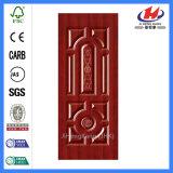 安いMDF HDFのメラミン白いプライマーベニヤの型によって薄板にされるドアの皮