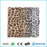 Случай телефона Flip кожи ткани леопарда