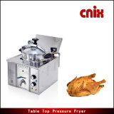 Máquina comercial da galinha de fritura da frigideira da pressão de Cnix Mdxz-16