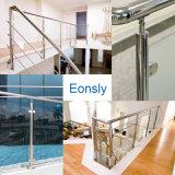 Suporte de vidro da tosquiadeira de vidro do aço inoxidável para o sistema de trilhos