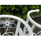 Decoración al aire libre del soporte de la planta de la bicicleta del metal de la vendimia