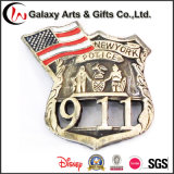 Projetos promocionais personalizados Antique Brass Die Cut Anniversary Memento Gifts for 911 Event