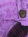 Garment Dye Cotton Jersey T Shirt para menino com bordado