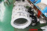Válvula de borboleta operada pneumática do aço inoxidável do pó do fornecedor de Wenzhou