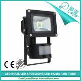 PIRの動きセンサーが付いている50W LEDのフラッドライトへの10W範囲