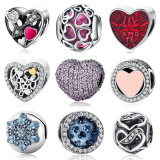 S925 Sterling Silver Beads Murano Glass Charm Pandora Beads Fit DIY Bracelets Jóias Makings