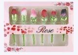 Rose Flower Shape Makeup Brush Rose Gold com manípulo longo Use como Decoração Beauty Gift