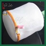 Sacchetti di lavaggio Zippered bianchi della maglia di figura rotonda
