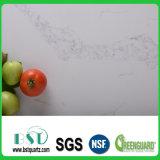 Кристаллический белый Countertop камня кварца с серыми венами