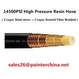 14500psi Hochdruck Schlauch (zwei Schicht-Stahl und zwei Schicht Aramid Faser-umsponnener Harz-Schlauch)