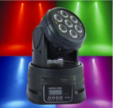 7X10W RGBW 4 em 1 LED Moving Head Wash Lighting