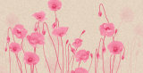 Il disegno viola su ordinazione 3D della Rosa del fornitore si dirige la pittura a olio della decorazione