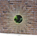Зеркало металла украшения сельской местности круглое