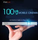 Coolux X6c 무선 연결 및 Andriod 4.4를 가진 가정 극장을%s 소형 휴대용 다중 매체 LED 영사기