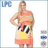 Добавочная оптовая продажа размера платье лета Sundresses хлопка картины