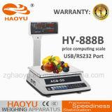 Preis-Plattform-Schuppe 30kg China-Haoyu elektronische mit doppelter Bildschirmanzeige