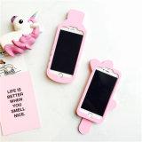 Caja mineral del teléfono del silicón del helado del amor de las botellas de agua del rasgón rosado del muchacho (XSF-052)