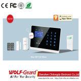 Sistema de alarme inteligente sem fio da casa GSM com instrução de menus de línguas diferentes