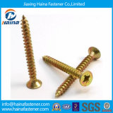 DIN7505 Yellow Zinc Plated Chipboard Screw/Black Phosphated Drywall Screw com Competitive Price