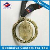 A medalha de ouro da rotação removível gira concessões terminadas ouro do esporte da medalha